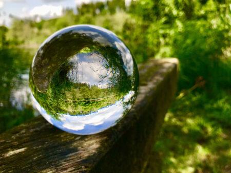 Glaskugel-Spiegelung